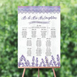 Lilac & Lavender Wedding Seating Plan additional 1