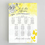 Yellow & Grey Watercolour Floral Wedding Seating Plan additional 1