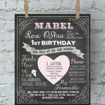 Baby's First Year Milestones Personalised Chalkboard Print additional 2