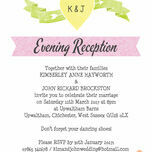 Candy Confetti Evening Reception Invitation additional 3