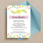 Candy Confetti Evening Reception Invitation additional 1
