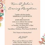 Elegant Floral Evening Reception Invitation additional 2