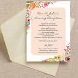 Elegant Floral Evening Reception Invitation additional 1