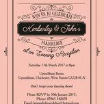 Elegant Vintage Evening Reception Invitation additional 4