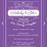 Elegant Vintage Evening Reception Invitation additional 3