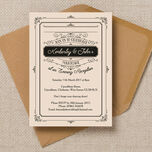 Elegant Vintage Evening Reception Invitation additional 1