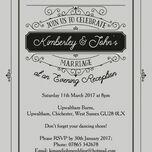 Elegant Vintage Evening Reception Invitation additional 6