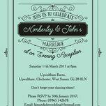 Elegant Vintage Evening Reception Invitation additional 8