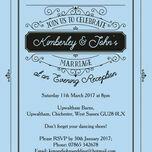 Elegant Vintage Evening Reception Invitation additional 9