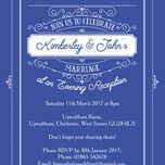 Elegant Vintage Evening Reception Invitation additional 10