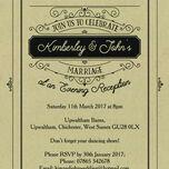 Elegant Vintage Evening Reception Invitation additional 12