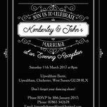 Elegant Vintage Evening Reception Invitation additional 11