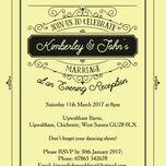 Elegant Vintage Evening Reception Invitation additional 13