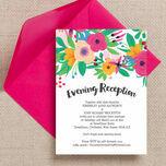 Floral Fiesta Evening Reception Invitation additional 1