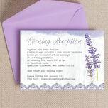 Lilac & Lavender Evening Reception Invitation additional 1