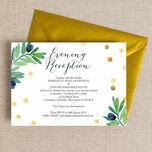 Olive Wreath Evening Reception Invitation additional 1