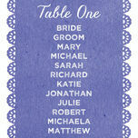 Papel Picado Table Plan Card additional 1