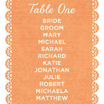 Papel Picado Table Plan Card additional 2