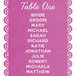 Papel Picado Table Plan Card additional 3