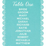 Papel Picado Table Plan Card additional 4