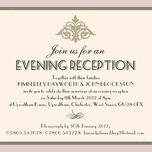 Pastel Art Deco Evening Reception Invitation additional 2
