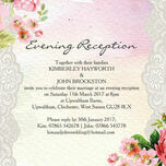 Pastel Watercolour Evening Reception Invitation additional 2