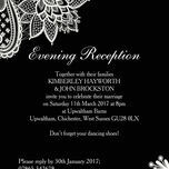 Romantic Lace Evening Reception Invitation additional 13