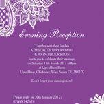 Romantic Lace Evening Reception Invitation additional 7