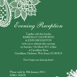 Romantic Lace Evening Reception Invitation additional 10
