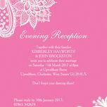 Romantic Lace Evening Reception Invitation additional 4