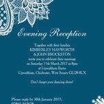 Romantic Lace Evening Reception Invitation additional 11