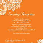 Romantic Lace Evening Reception Invitation additional 3