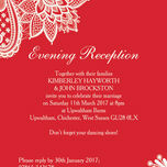 Romantic Lace Evening Reception Invitation additional 5