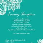 Romantic Lace Evening Reception Invitation additional 8