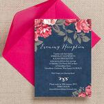 Rustic Floral Evening Reception Invitation additional 4