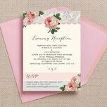 Sweet Vintage Evening Reception Invitation additional 1