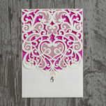 Diamante Laser Cut Pocketfold Personalised Wedding Invitation additional 16