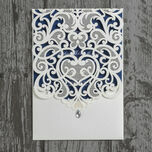 Diamante Laser Cut Pocketfold Personalised Wedding Invitation additional 12