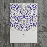 Diamante Laser Cut Pocketfold Personalised Wedding Invitation additional 10