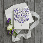 Diamante Laser Cut Pocketfold Personalised Wedding Invitation additional 11