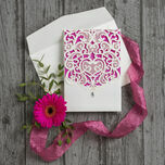 Diamante Laser Cut Pocketfold Personalised Wedding Invitation additional 14