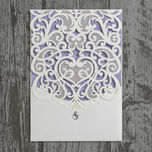 Diamante Laser Cut Pocketfold Personalised Wedding Invitation additional 15
