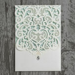 Diamante Laser Cut Pocketfold Personalised Wedding Invitation additional 17