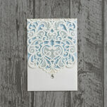 Diamante Laser Cut Pocketfold Personalised Wedding Invitation additional 7
