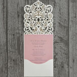 Diamante Laser Cut Pocketfold Personalised Wedding Invitation additional 9