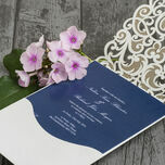 Diamante Laser Cut Pocketfold Personalised Wedding Invitation additional 4