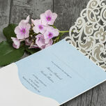 Diamante Laser Cut Pocketfold Personalised Wedding Invitation additional 6