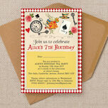 Alice in Wonderland Party Invitation additional 2
