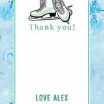 Ice Skating Personalised Thank You Card additional 5
