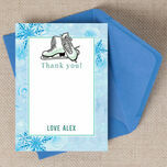 Ice Skating Personalised Thank You Card additional 2